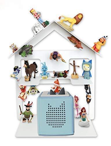 Regal für Toniebox für über 42 Tonies, Tonie Regal für Kinder Sammelset Haus - Tonie Toniebox...