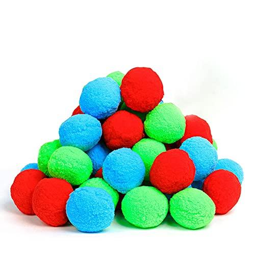 Wasserbomben Bälle Set,50 Stück wiederverwendbare Wasser Ball, Wasserbälle Baumwolle...