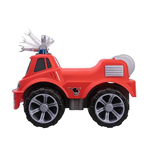 BIG-Power-Worker Maxi Firetruck, großes Spielzeug Auto mit Wasserspritze, Reifen aus Softmaterial, rot,...
