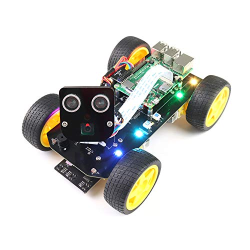 Freenove 4WD Smart Car Kit for Raspberry Pi 4 B 3 B+ B A+, Face Tracking, Line Tracking, Light Tracing,...
