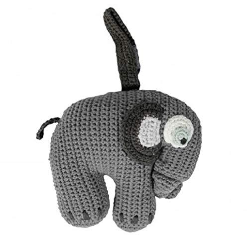Sebra Häkel-Spieluhr, Fanto der Elefant, Classic Grey