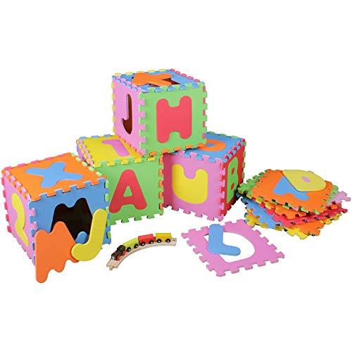Prinzbert Buchstaben Puzzlematte 36 Matten 86-TLG. Puzzleteppich Spielmatte | Kinder Spielteppich...