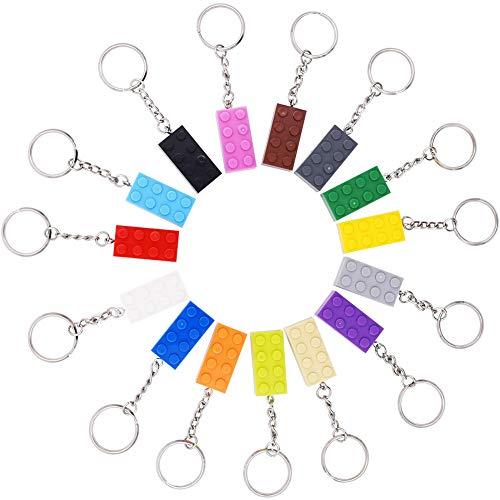 INTVN Schlüsselanhänger,Brick keyrings (4x2) - Kids Birthday Party Bag Füllstoffe, Gefälligkeiten,...