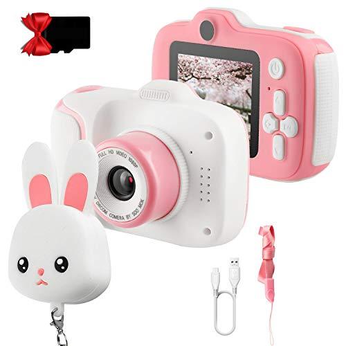 ETPARK Kinderkamera, Digital Kinder Kamera Vorne und Hinten Fotoapparat Kinder Selfie und Videokamera 2...