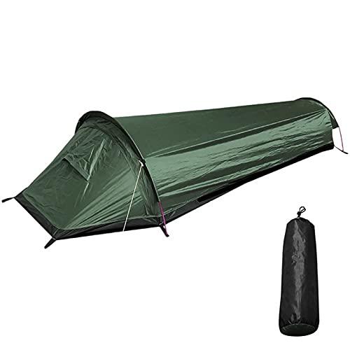 Soekodu 1 Person Wanderzelt, Ultraleichtes Biwaksackzelt Wasserdichtes Tragbares Campingzelt...