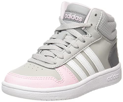 adidas Hoops Mid 2.0 K Sneaker, Mehrfarbig (Gridos Ftwbla Roscla, 34 EU