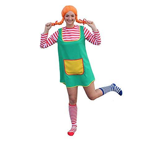 Kostüm-Set Karlinchen für Erwachsene 3-TLG. bestehend aus Kostüm Perücke in orange und zweifarbigen...
