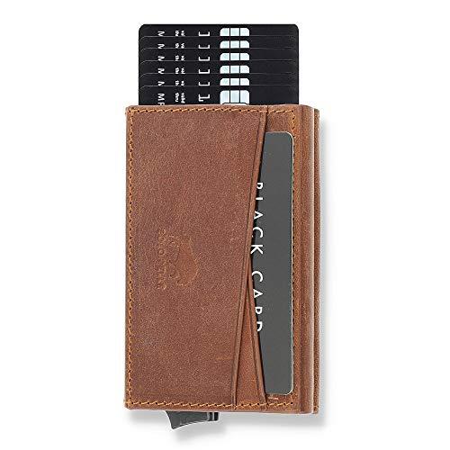 Solo Pelle Kartenetui mit RFID Schutz bis 11 Karten Portmonee Geldbeutel Kreditkartenetui für den Alltag...