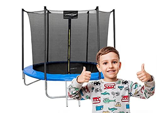 Gartentrampolin Waldensports 8FT 244cm, für Kinder, Trampolin Outdoor, Trampolin mit Sicherheitszaun und...