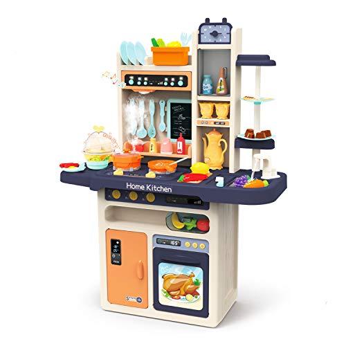 JOYIN Kinder Küchen Spielset, Kinderspielküche mit realistischen Licht & Sounds, Simulation von Spray,...
