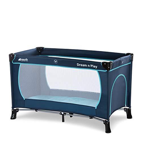 Hauck Dream'n Play Plus, Reisebett 3-teilig 120 x 60 cm, ab Geburt bis 15 kg, inkl. Tragetasche und...