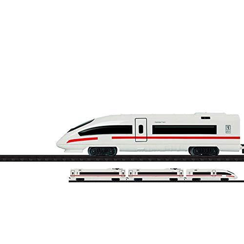 Elektrische Eisenbahn Starter Edition mit Schienen, Schnell-Zug, Lokomotive,Lok, Sound inkl. Waggons und...