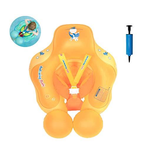 Olaffi Baby Schwimmen Schwimmhilfe Ring, Kleinkind Kinder Baby mit Sicherheitsgurt, Anti-Umkippen...