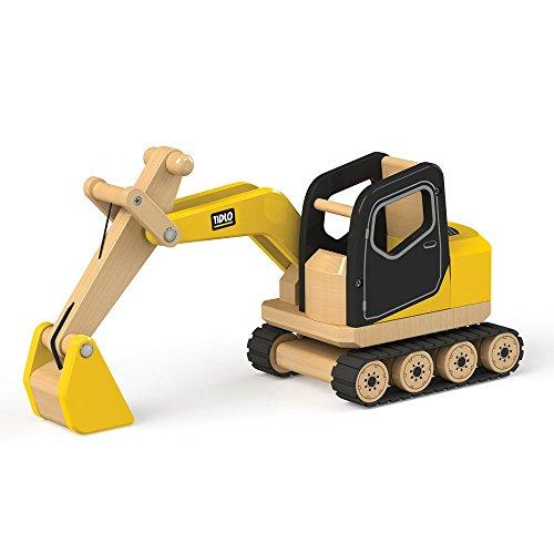 Tidlo T0415 Holzbagger Baufahrzeuge Spielzeug, Mehrfarbig