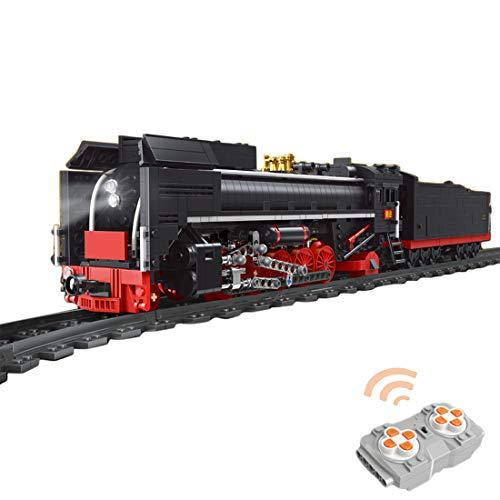OATop 1552 Teile City Güterzug dampfeisenbahn Baustein Modell, City Zug mit Motor und Ferngesteuert...