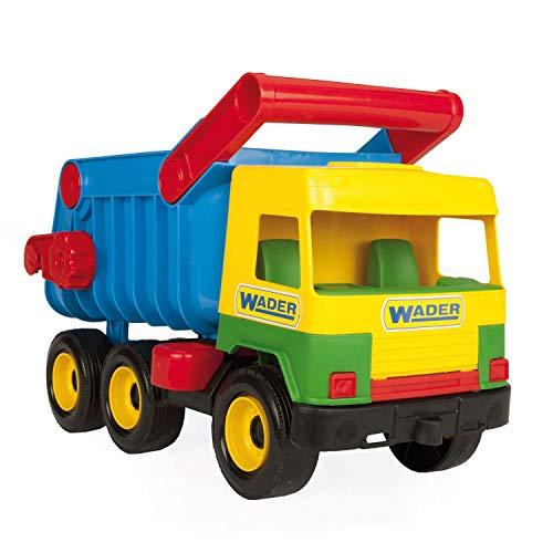 Wader 32051 - Middle Truck Kipper mit arretierbarer Mulde, gelb, Spielzeugauto ab 12 Monaten, ca. 43 cm,...