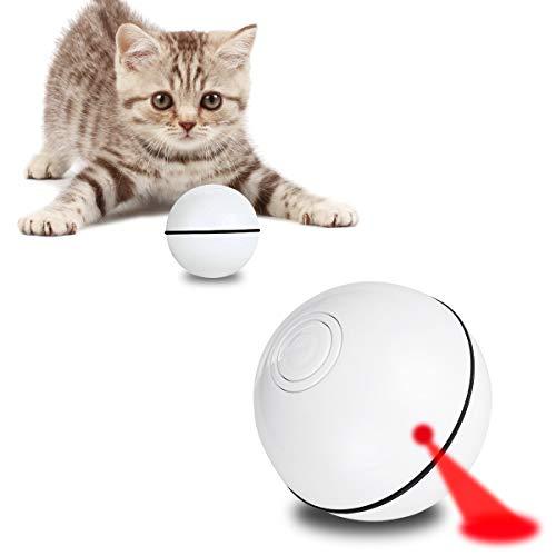 AceLife Katzenspielzeug Ball mit LED Licht, Elektrisch Katzen Spielzeug Ball Automatischer Rollender...