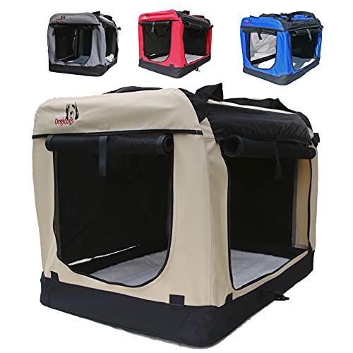 Hundetransportbox faltbar Transportbox für Hunde Hundebox Auto - Dogi Kennel - 6 Größen - 4 Farben...