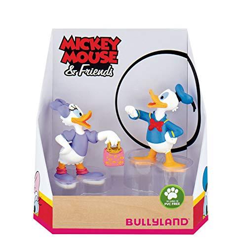 Bullyland 15084 - Spielfigurenset, Walt Disney Mickey Mouse Geschenkset-Donald und Daisy, liebevoll...