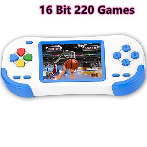 Bornkid 16 Bit Handheld Spielekonsole für Kinder und Erwachsene mit Integriertem 220 HD Videospiel 3,0...