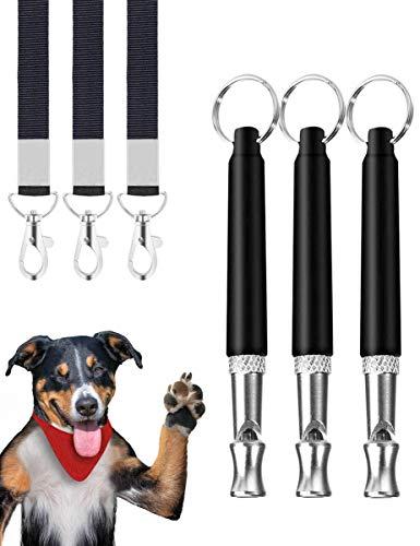 Rcoko Hundepfeife,3 Stücke Professionelle Ultraschall Pfeife,Einstellbare Hochfrequenz Hunde...