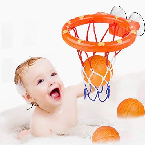 WEARXI Wasserspielzeug Badespielzeug Baby, Kinder Badewannenspielzeug Bällebadewannen Basketballkorb,...