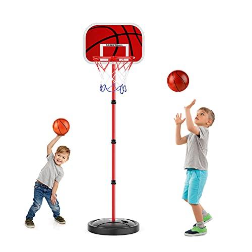 EXTSUD Basketballständer für Kinder, höhenverstellbare basketballkorb, 150CM Basketballbrett mit...