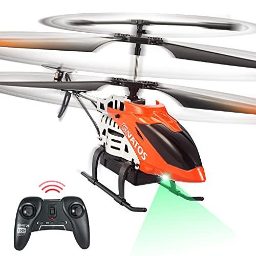 VATOS RC Hubschrauber 22 Minuten Fliegen Ferngesteuerter Hubschrauber 2,4 GHz & 3,5 Kanäle mit LED-Licht...