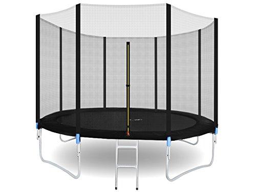 MALATEC Gartentrampolin Outdoor Trampolinmit Sicherheitsnetz und Leiter bis 150 kg Komplettset...
