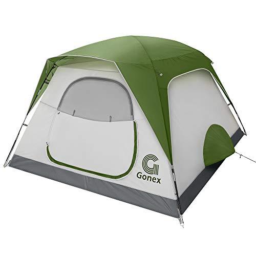 Gonex Camping Zelt, 6 Personen Leicht Wasserdicht Sofortiges Aufstellen Familie Kuppelzelt, Doppelwandig...