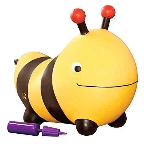 B. toys Hüpftier Biene mit Handpumpe – 49cm Aufblasbarer Gelber Hüpfball in Tierform für Kinder ab...