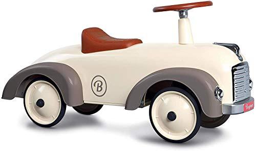 Baghera Rutschauto Speedster Cremeweiß | Rutschfahrzeug für Kinder - zahlreiche lebensechte Details |...