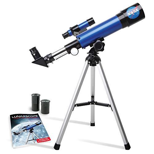 NASA Lunar Teleskop für Kinder - 90-fache Vergrößerung, inklusive zwei Okularen, Tischstativ,...