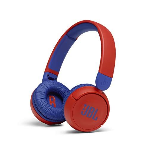 JBL Jr310 BT On-Ear Kinder-Kopfhörer in Rot-Blau – Kabellose Bluetooth-Ohrhörer mit Headset und...