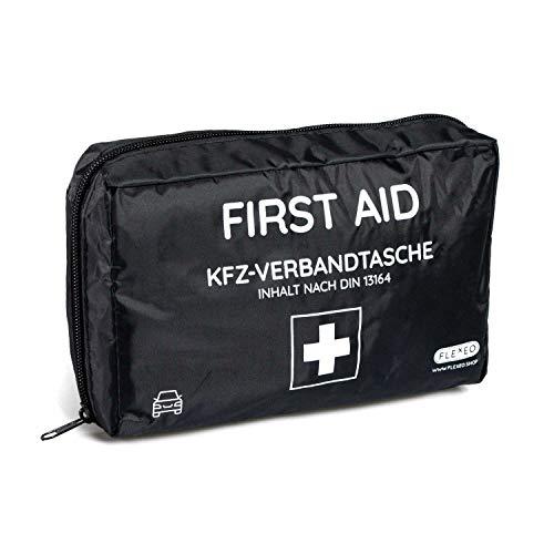 FLEXEO KFZ-Verbandtasche DIN 13164 - Verbandskasten Auto - Erste Hilfe Kasten Auto - Verbandkasten PKW -...
