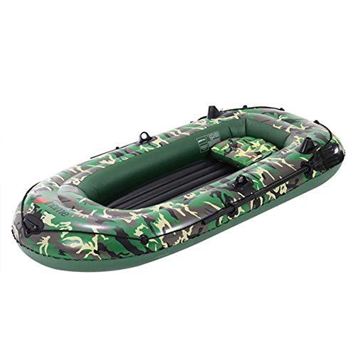 N/Y 2/3/4 Person Schlauchboot Set mit Paddeln Luftpumpe PVC Touring Kajak Kanu Beiboot Tender Ponton Boot...