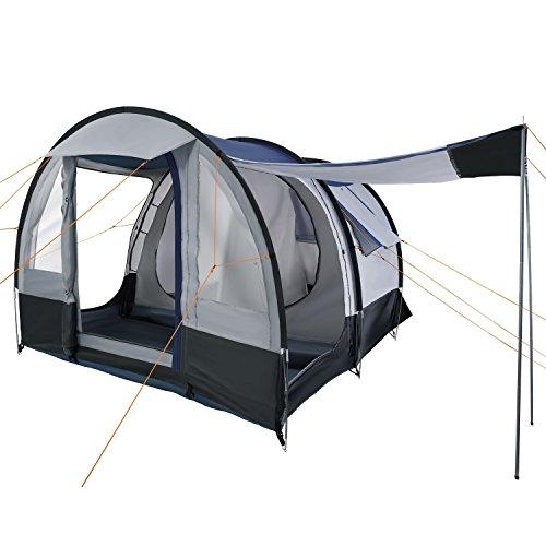 CampFeuer Campingzelt Smart für 4 Personen | Großes Familienzelt mit 3 Eingängen und 2.000 mm...