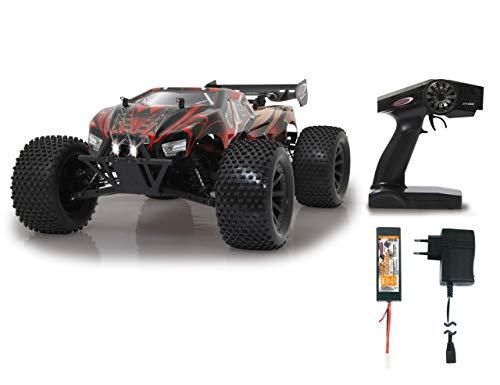 JAMARA 059740 - Brecter Truggy 1:10 BL 4WD Lipo 2,4GHz LED - Brushless Motor 3200KV, Regler 60 A,...