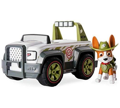 Nickelodeon Paw Patrol - Helfer auf Vier Pfoten, Tracker's Jungle Cruiser, Fahrzeug und Figur