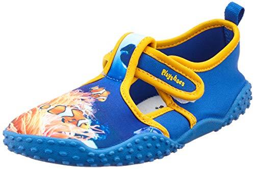 Playshoes Jungen Unisex Kinder UV-Schutz Badeschuhe Unterwasserwelt Aqua Schuhe, Blau (Blau 7), 18/19 EU