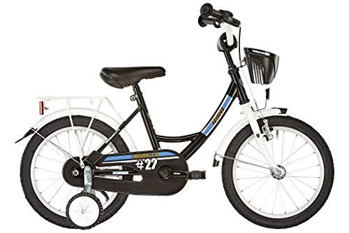 Vermont Kinder-Fahrrad City Police 18 Zoll   1-Gang-Kinder-Rad, Stützräder, Klingel und Fahrradkorb