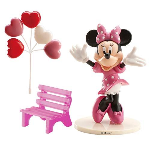 Dekora - 302012 Minnie Mouse Figur für Torte, Rose