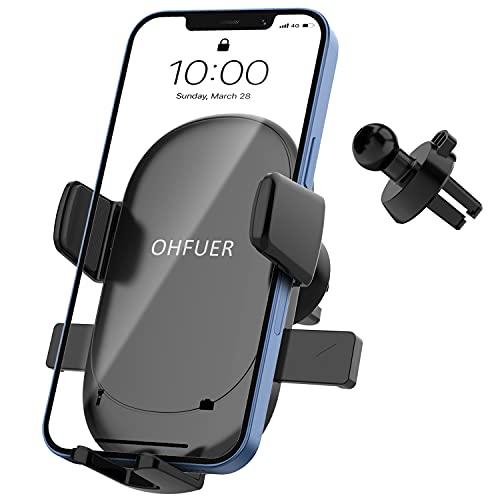 Handyhalterung Auto Schwerkraft Lüftung Auto Handyhalter Upgrade mit Hakenartigen Clips Handfreier KFZ...