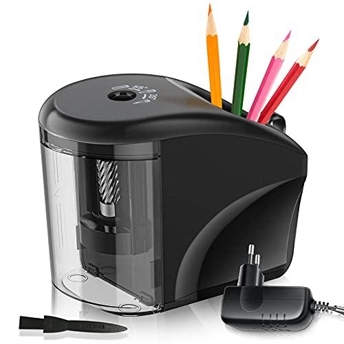 ATCRINICT Upgrade Bleistiftspitzer, Elektrischer Anspitzer mit Behälter, Tragbarer Elektrischer Spitzer...