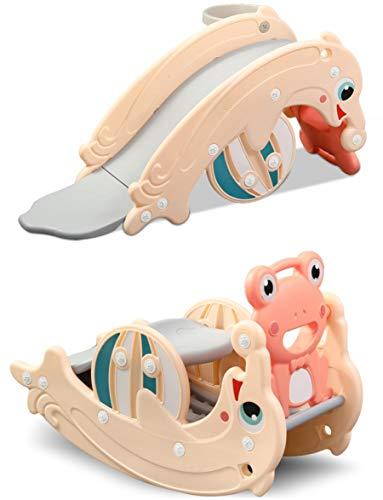 Clamaro 'Delphin' 2in1 Kinder Rutsche und Wippe Kombination, Schaukeltier einfach umdrehen und aus der...