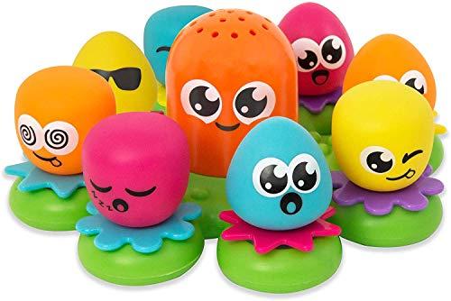 TOMY Wasserspiel für Kinder 'Okto Plantschis' Mehrfarbig, Hochwertiges Kleinkinderspielzeug, Spielzeug...