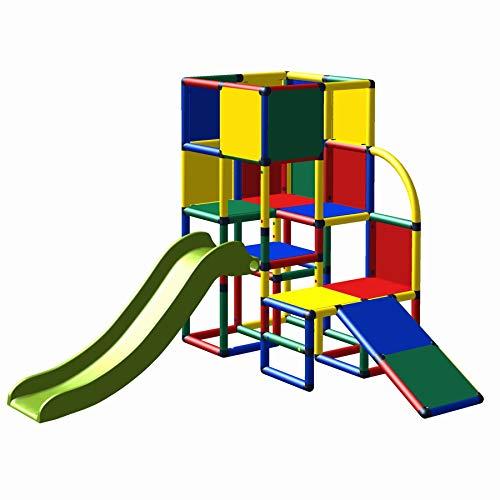 move and stic 6009 Spielturm Kletterturm Julian mit Rutsche und Kleinkindschräge als bekletterbares...