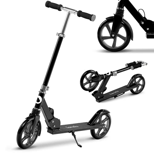Lionelo Luca Roller Kinder Roller Erwachsene Tretroller bis 100kg Räder 200mm ShockResist Stoßdämpfer...