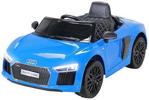 Actionbikes Motors Kinder Elektroauto Audi R8 Spyder - Lizenziert - 2 x 45 Watt Motor - Rc 2,4 Ghz...