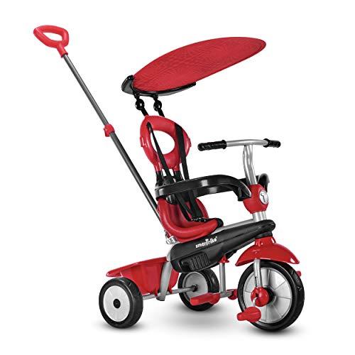 smarTrike Zoom Kleinkind-Dreirad für 1-, 2-, 3-jährige – 4-in-1 mehrstufiges Dreirad, rot